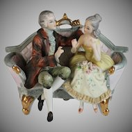 Vintage Bisque Figurine of a Young Courting Couple