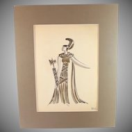 Original mixed media painting by Raoul Pene  Du Bois: A Queen
