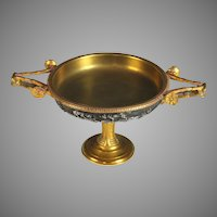 Antique French Gilded Bronze Dish, Barbedienne signed Henry Cahieux