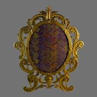 Vintage Gilt Easel Backed Mirror