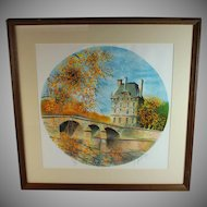 Claude Gosperrin (1936 – 77) signed and numbered 70/275 lithograph of a Chateau