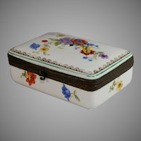 Rare Jlmenau  Hinged Porcelain Trinket Box Graf von Henneberg