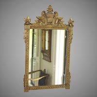 Louis XVI French Style Gilded Mirror