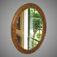 Vintage Gold Gesso and Wood Mirror