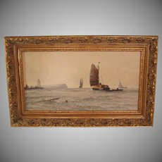 Watercolor Painting by listed American Artist Saint Clair Augustin Mulholland (1839-1910)