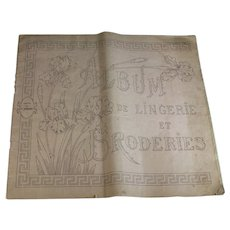 Antique French Album de Lingerie et Broderies, Napoleon III Embroidery
