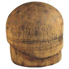 Wood Wooden Hat Mold Cloche Art Deco