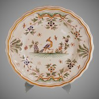 Antique De Moustiers French Faience Plate Joseph Olery Mark