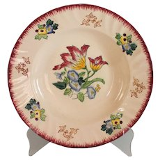 Antique French Longwy Faience Plate Hand Painted