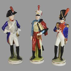 Set of Three Napoleonic Scheibe Alsbach Kister Soldiers Different Uniforms