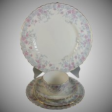 Minton Garden Pinks Place Setting Five Pieces Fine Bone China