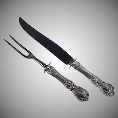 Sterling Silver Handled Carving Set Reed & Barton