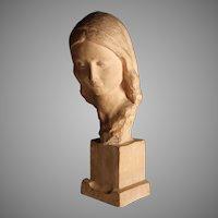 Terra Cotta Sculpture of a woman by Italian Sculptor Ugo Cipriani (1897-1960)
