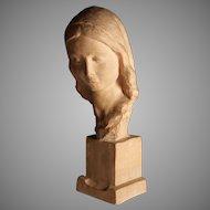 Terra Cotta Sculpture of a woman by Italian Sculptor Ugo Cipriani (1887-1960)