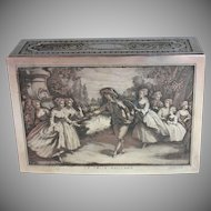 Antique French Silverplated Engraved Box: Le Colin Maillard after Lancret