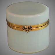 Large Antique French Opaline Glass and Ormolu Box