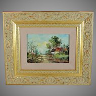Impressionist Landscape Painting Belgian School