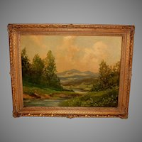 American School Landscape Painting by Tiller