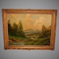 American School Landscape Painting by Tiller