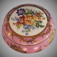 Vintage Limoges Porcelain Dresser Box