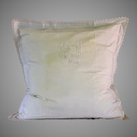Lovely French Monogrammed European pillow sham
