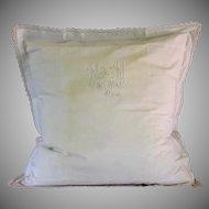 Lovely French Monogrammed European pillow sham