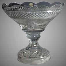 Vintage Hungarian Crystal Center Piece Pedestal Bowl
