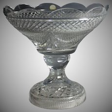 Vintage Hungarian Crystal Center Piece Pedestal Bowl