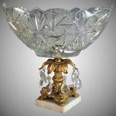 Vintage Cut Glass Pedestal Centerpiece
