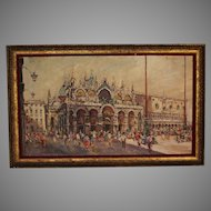 Oil on canvas painting of St. Mark's Square, Venice
