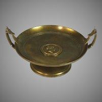 Antique Bronze Vide Poche Card Tray with Roman Head Center