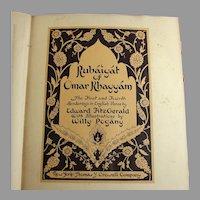 Rubaiyat of Omar Khayyam, Edward Fitzgerald Illustrated by Willy Pogany
