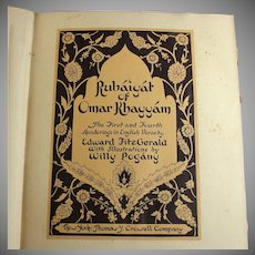 Rubaiyat of Omar Khayyam, Edward Fitzgerald Illustrated by Willy Pogany