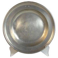19th C James Stanton London Hallmarked, English Pewter Plate