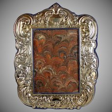 Vintage Repousse Sterling Silver Photo Frame