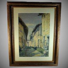 Original Watercolor Landscape Painting Signed
