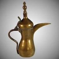 Antique Bedouin Islamic Middle Eastern Dallah Signed