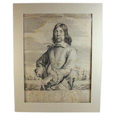 Antique Engraving of Cornelis Tromp Gerbrand van den Eeckhout (Dutch1621-1674)