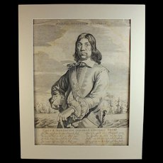 Antique Engraving of Cornelis Tromp Gerbrand van den Eeckhout (Dutch1621-1674)
