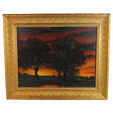 Tonalist Landscape oil painting  French School early 20th Century