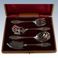 Antique Ercuis Hors D'oeuvres Serving Utensil set, Box