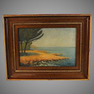 Seascape Painting by French artist G. Mongin dated 1928