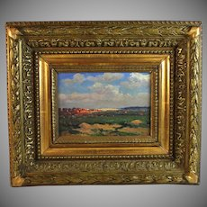Oil on Panel Impressionist Landscape French School signed J. Franz
