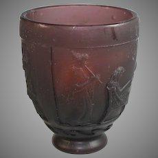 Daum Nancy George de Feure Art Deco Pate-de-Verres Art Glass Vase