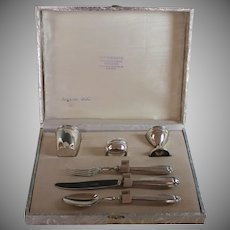 Antique 800 Silver Italian Breakfast or Child's Set