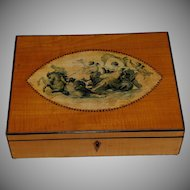 Antique Regency Satinwood with Inlay Dresser Box