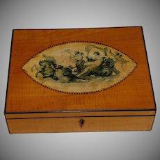 Antique Regency Satinwood with Inlay Dresser Box
