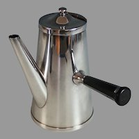 Vintage Silverplate Chocolate Pot with Bakelite Handle, Silver Plate
