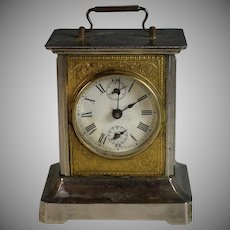 Antique French Carriage Clock with Chimes and Elaborate Melody