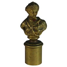 Antique Presse Papier Paperweight Lady Bust